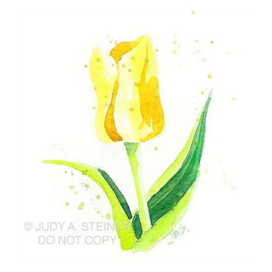 yellow tulip print