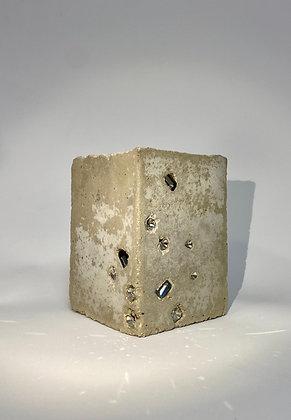 Swarovski concrete cube