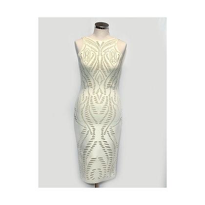 Laser cut dress - SIZE S