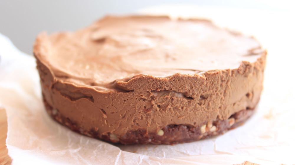 Avocado chocolate mousse tart
