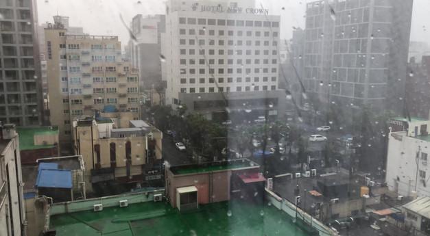 Typhoon Soulik in Jeju