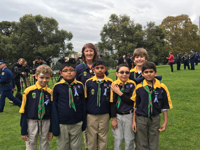 1st Waitara Cubs to Police Remembrance Day ceremonies
