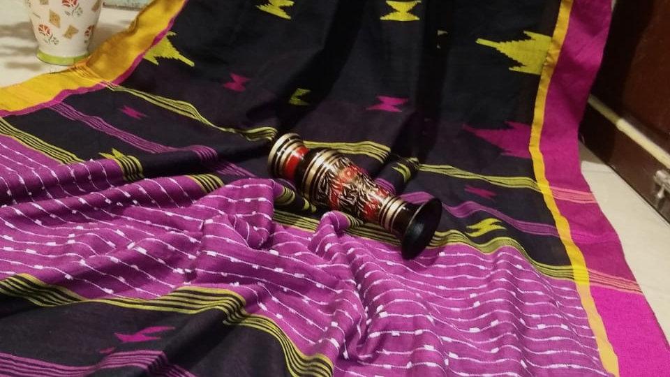 Black Khadi Cotton