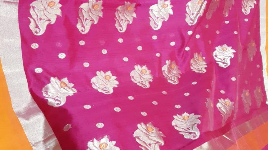 Pink Handwoven Chanderi
