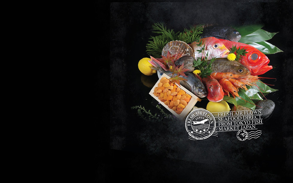 Airflown seafood from toyko fish market