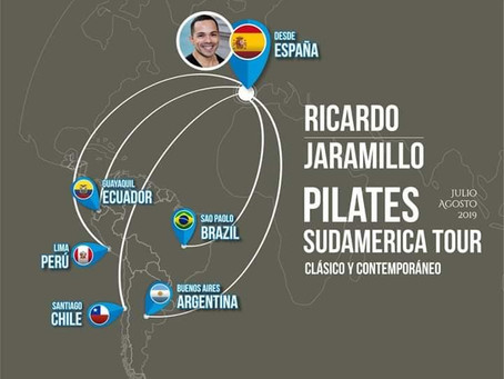 Pilates Sudamerica Tour: Seminarios para profesores de Pilates en julio y agosto de 2019.
