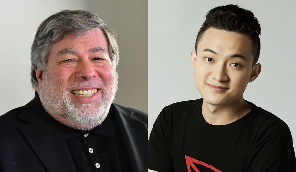 Apple co-founder Steve Wozniak lunches with Tron CEO Justin Sun
