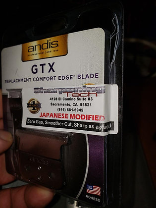 New blade Japanese GTX  Modify adjust cero gap.