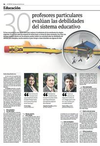 Aparición de Sácate un 7 en La Tercera, opinando respecto al sistema educativo