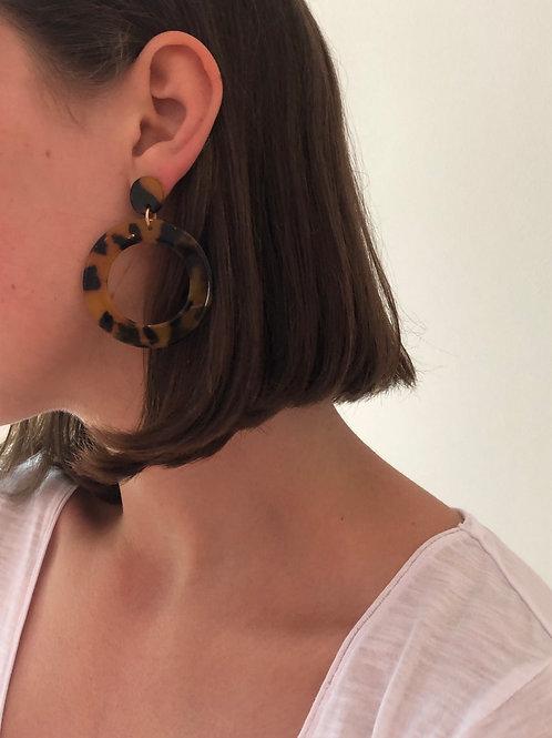 Earrings Tortoise Shell