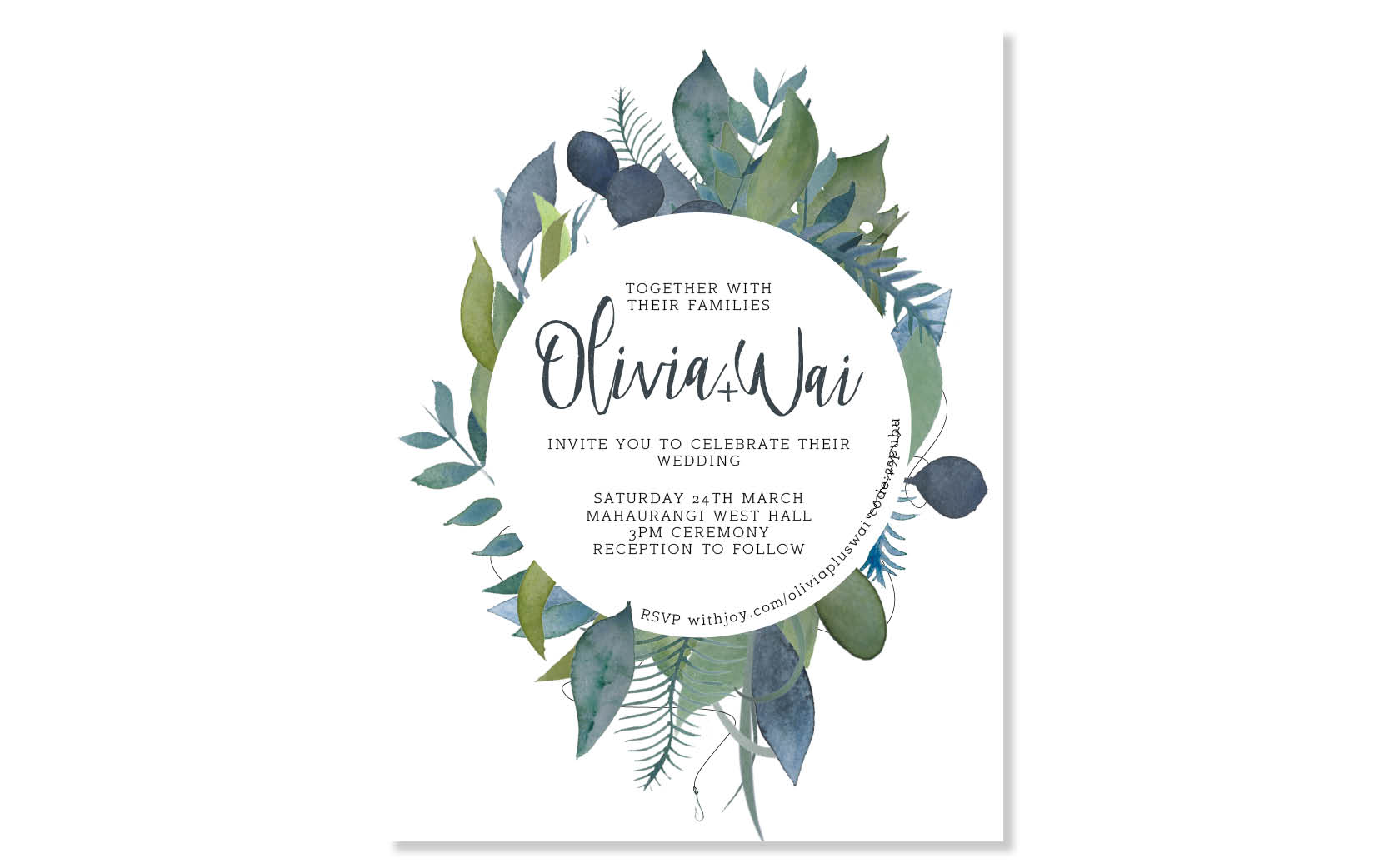Olivia and Wai - Wedding Stationery