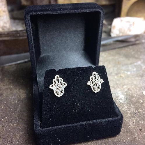 New Jewellery - Hamsa Hand Studs