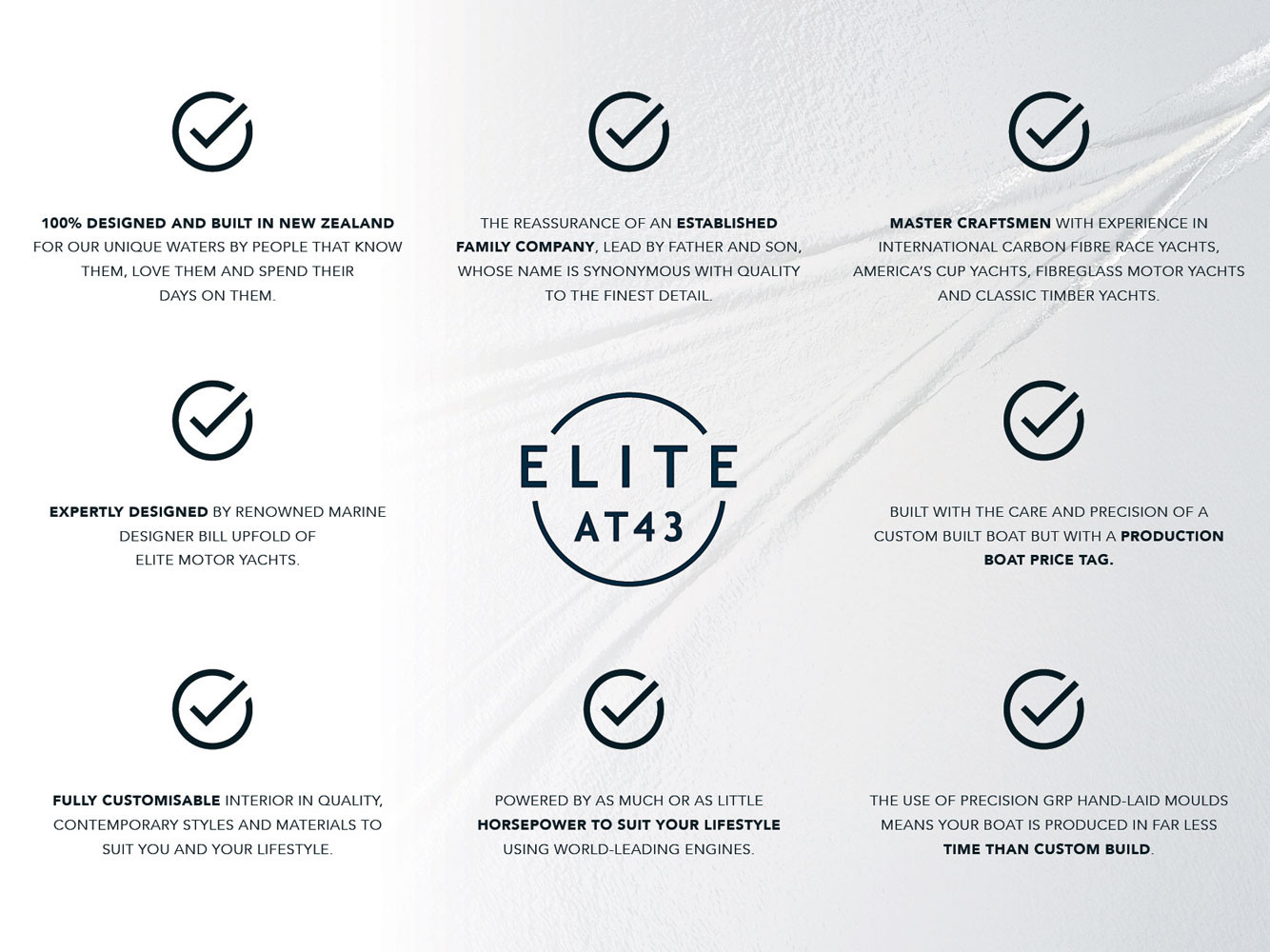 Elite AT43 bullet points