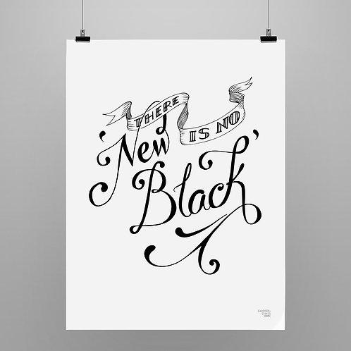 Black - always in fashion. Black on white.