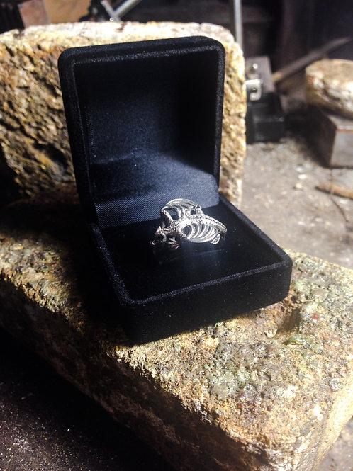 Plush Black Velvet Ring Gift Box