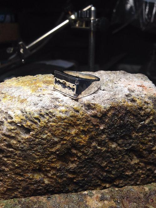 Cyborg - Rocker Razor Blade Ring
