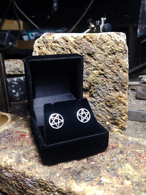 New Jewellery - Large Pentagram Studs