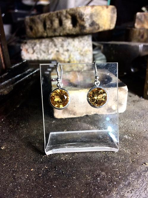 New Jewellery - Circular Citrine Earrings