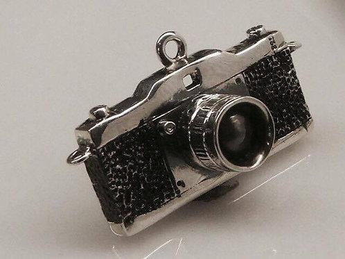 Cyborg - Large Film Camera Pendant with Onyx Lens