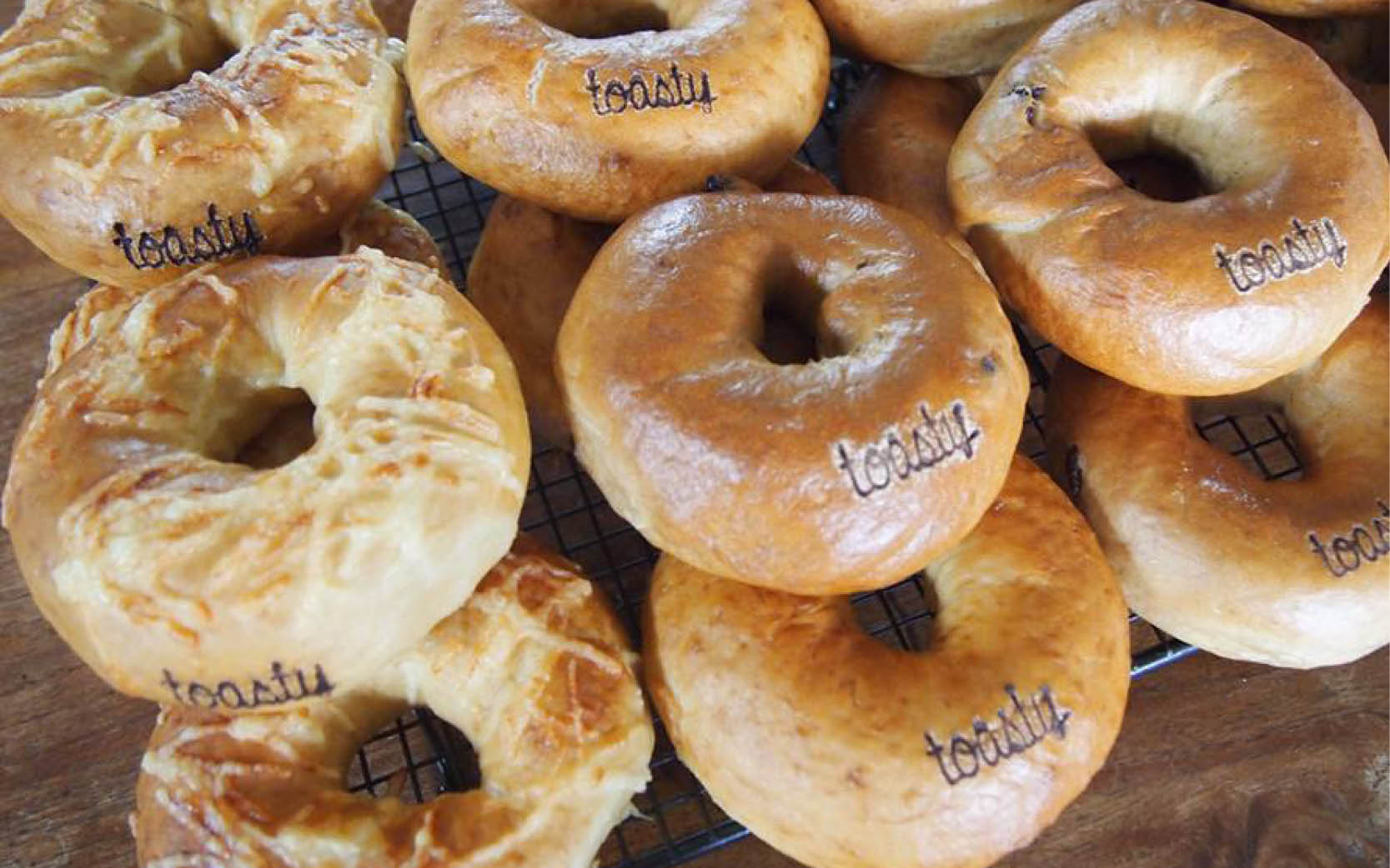 Toasty Bagels - Branding