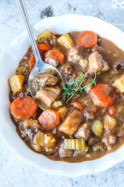 Lamb, Bacon & Dark Ale Stew