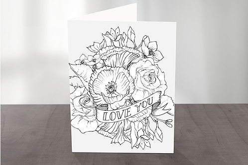 Colour it Yourself! Floral Explosion LOVE