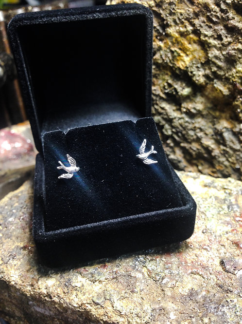 New Jewellery - Old School Swallow Studs