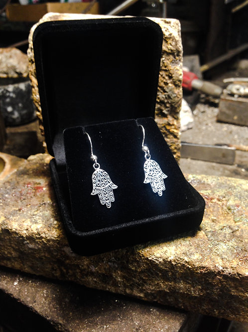 New Jewellery - Hamsa Hand Earrings