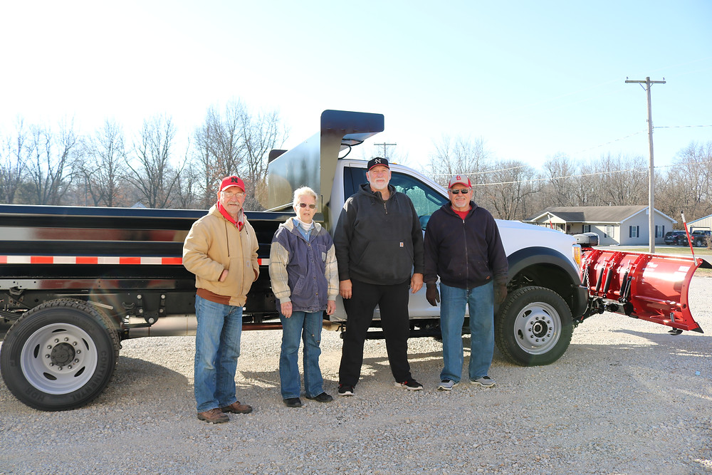 Pictured left to right are village of Coalton trustees Steven Lee, Mary Speier, Steve Kimbro and Tom Detmers.