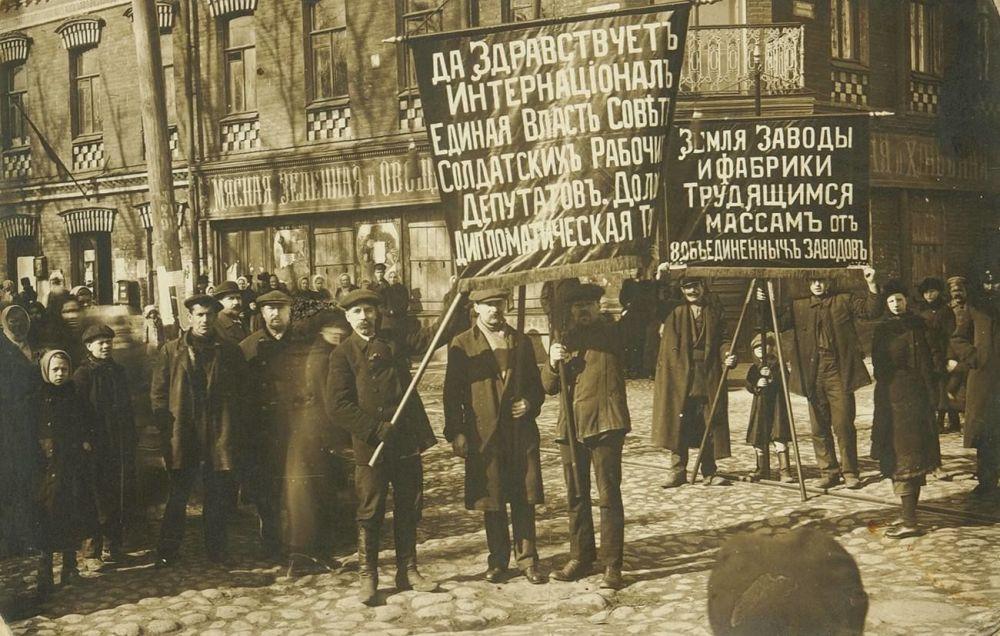 Забастовка Путиловского завода 1917 года.