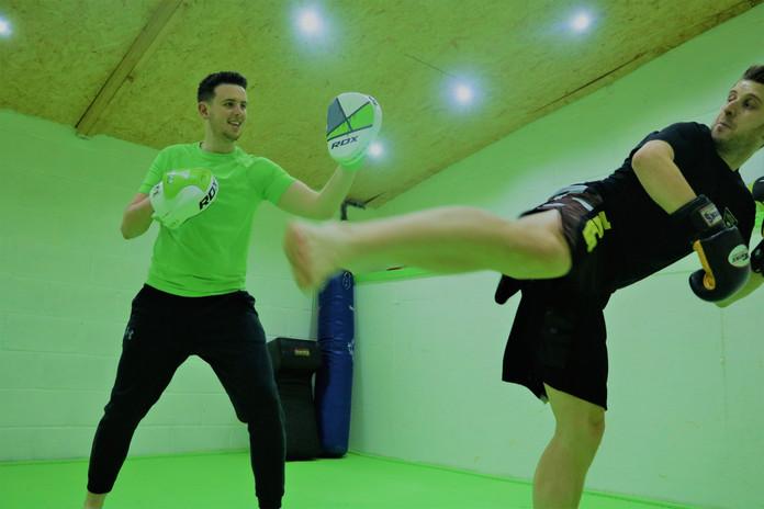 Kickstart Kickboxing Cardiff pads