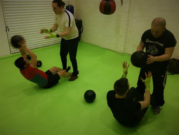 Kickstart Kickboxing Cardiff medicine balls