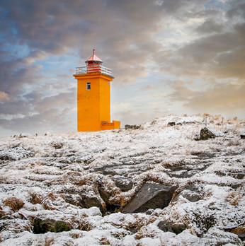Stafnes Lightouse, Southwest, Iceland