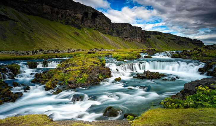 Fossalar waterfall, Southeast Iceland