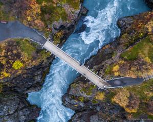 Hraunfossar waterfalls, West Iceland