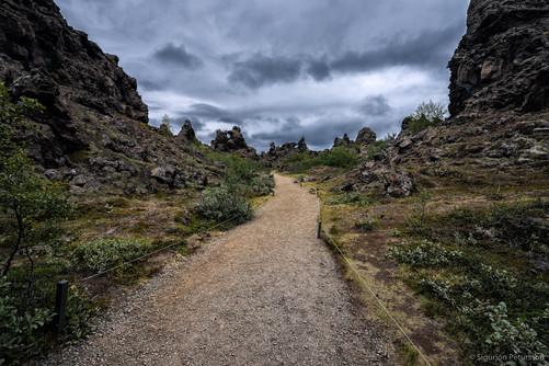 Dimmuborgir lavafield, Lake Myvatn area, Northeast Iceland