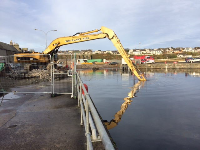 Harbour works underway