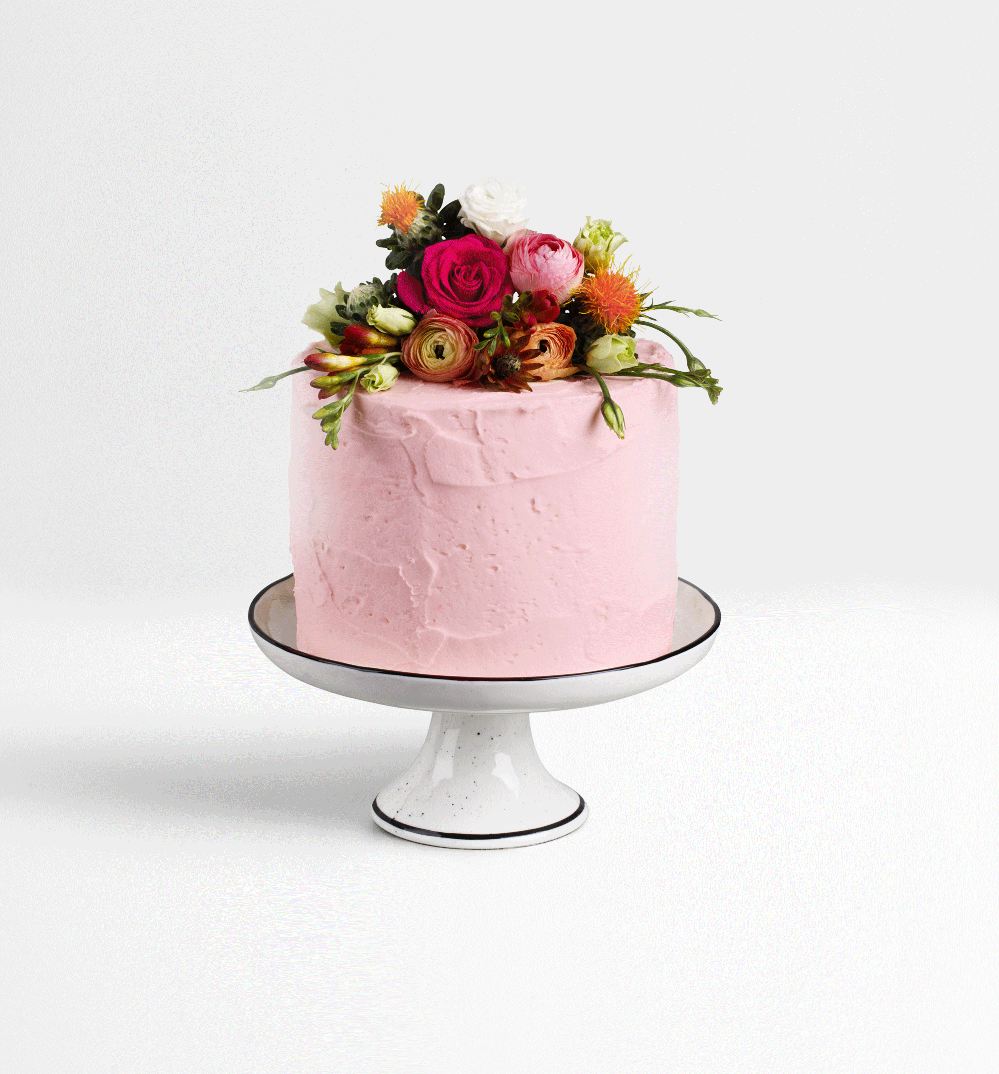 Example Pink Floral Cake
