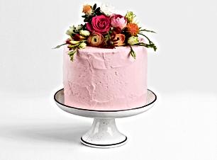 Rosa Hochzeitstorte