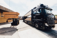 Holztransport LKW EPK Holz Gudensberg