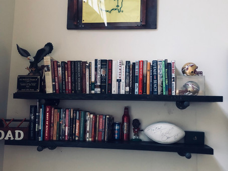 I made my own rustic pipe and wood wall bookshelves. So Easy!