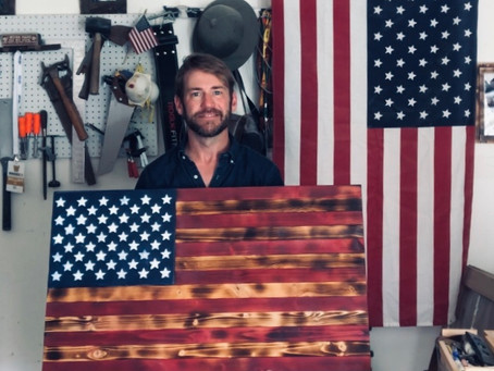 So, I made my first Wooden American Flag...