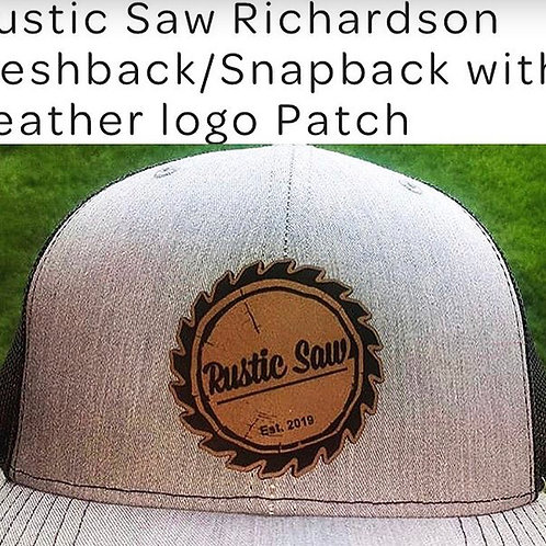 Richardson SnapBack with leather patch