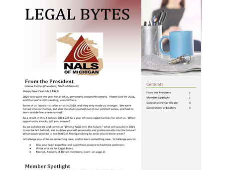 NALS of Michigan Legal Bytes January 2021