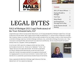 NALS of Michigan Legal Bytes July 2021