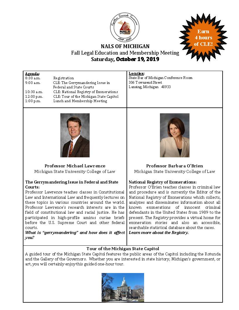 NALS of Michigan CLE EVENT