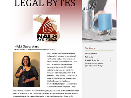 NALS of Michigan Legal Bytes November 2020