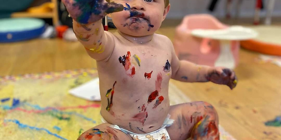 Baby Art Class St Georges Day themed
