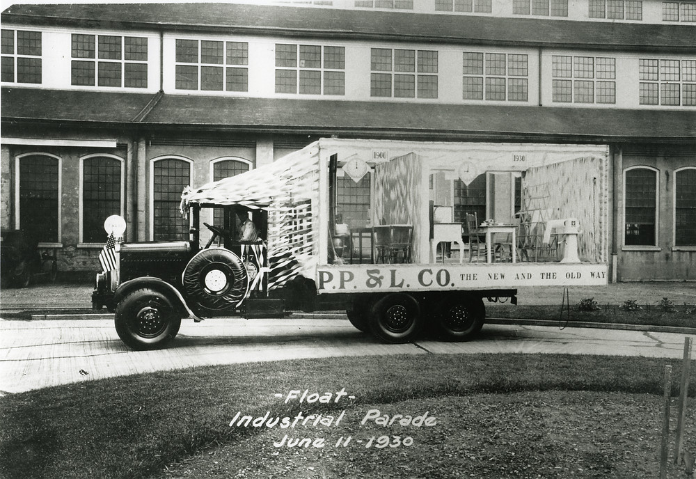 PP&L touts the efficiency of electric appliances at an industrial parade in June 1930.