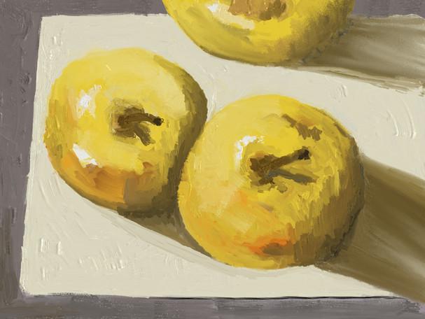 Compositie in geel